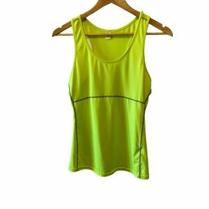 Neon Green Racer Back Stretch WorkOut Athletic Top